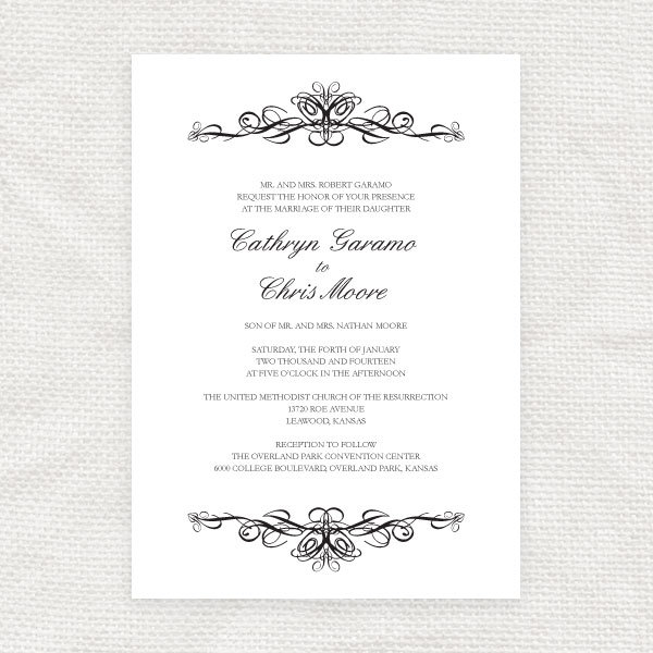 Traditional Wedding Invitation by i do it yourself