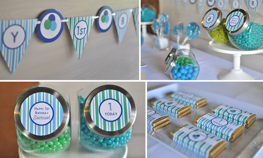Stripe Theme Party by Style Dolls and Blossom Tree Designs