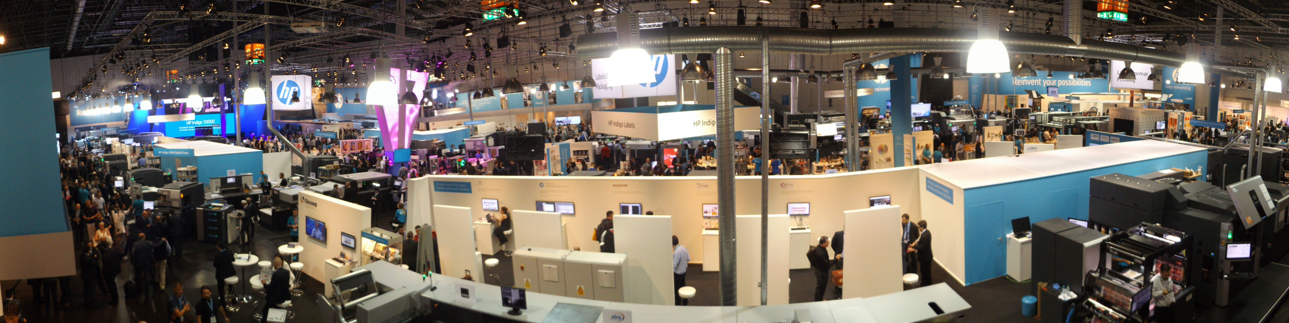 HP's exhibit at drupa 2016 took up an entire Hall and was the biggest of the show