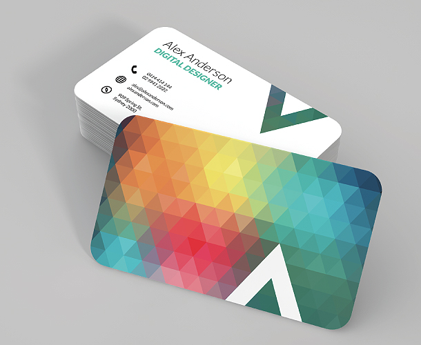 round corner business cards - Rounded Corner Business Cards